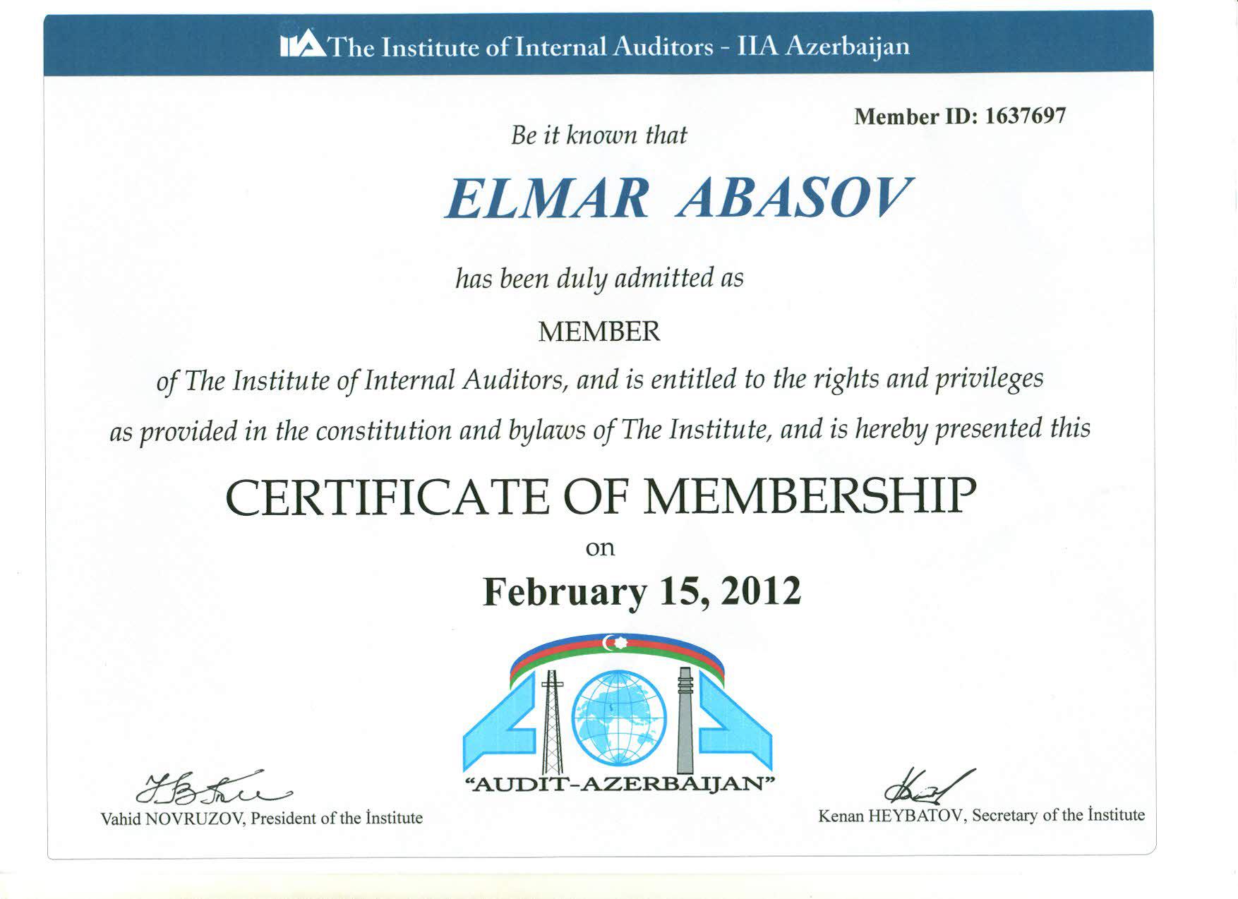 Elmar Abbasov